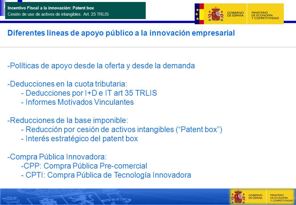 Diferentes líneas de apoyo público a la innovación empresarial