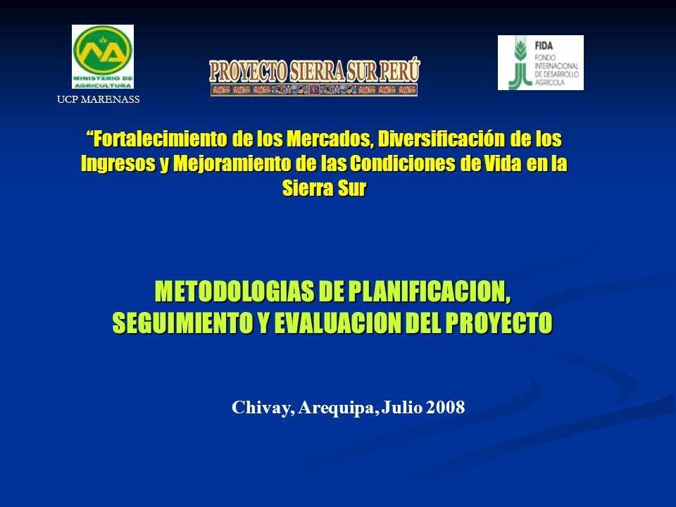 METODOLOGIAS DE PLANIFICACION, SEGUIMIENTO Y EVALUACION DEL PROYECTO
