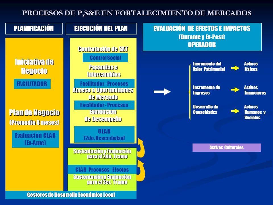 PROCESOS DE P,S&E EN FORTALECIMIENTO DE MERCADOS