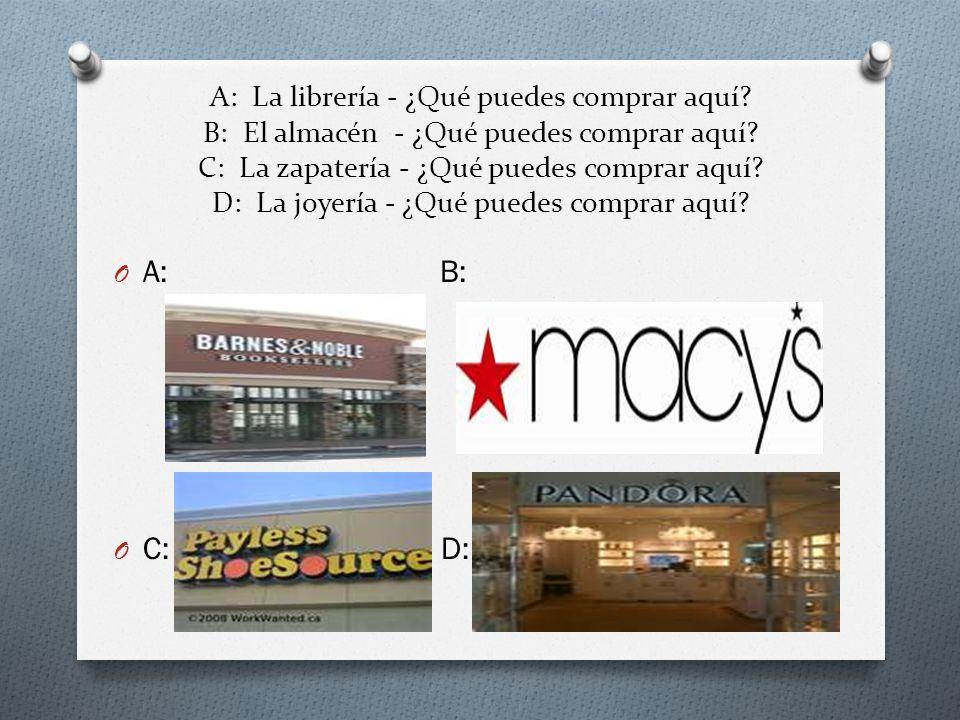 A: La librería - ¿Qué puedes comprar aquí