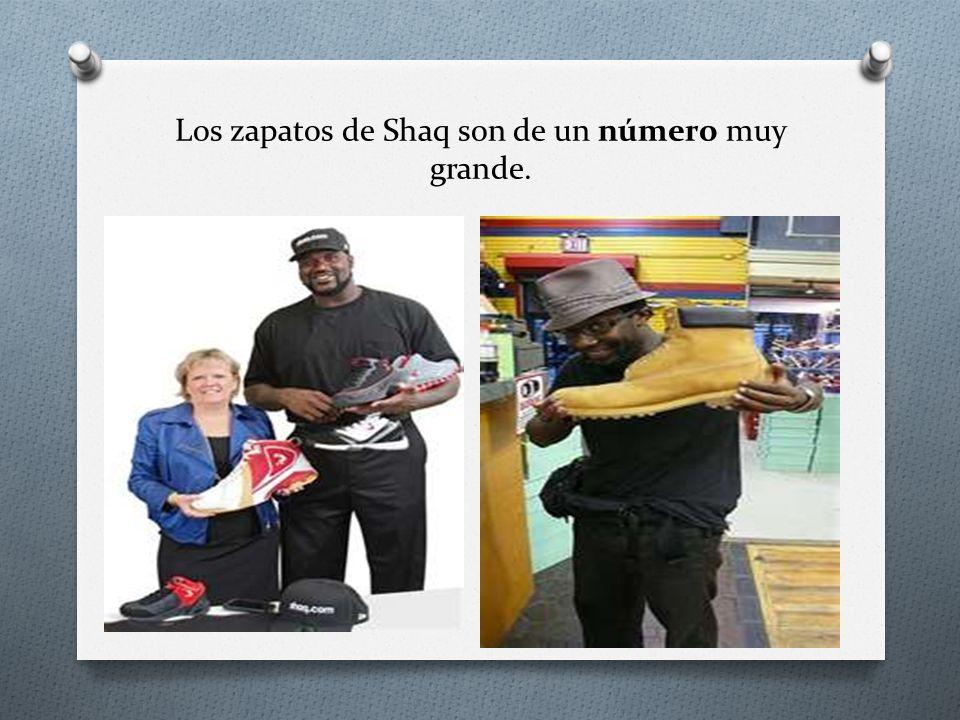 Los zapatos de Shaq son de un número muy grande.