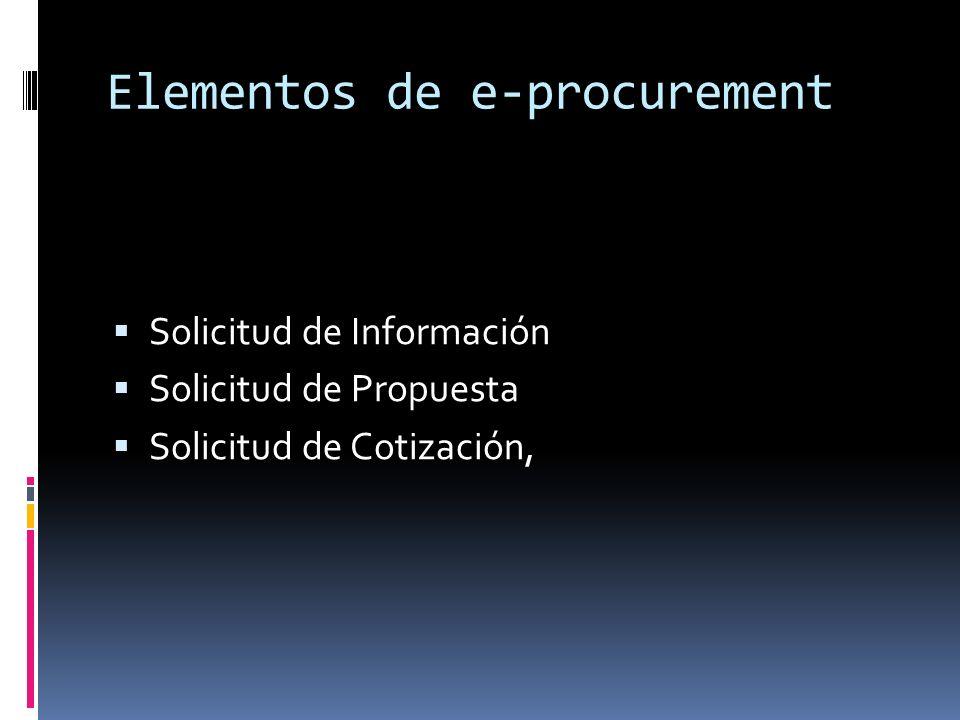 Elementos de e-procurement