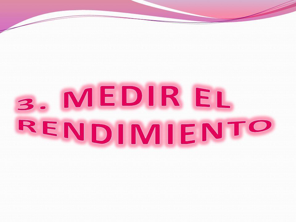 3. MEDIR EL RENDIMIENTO