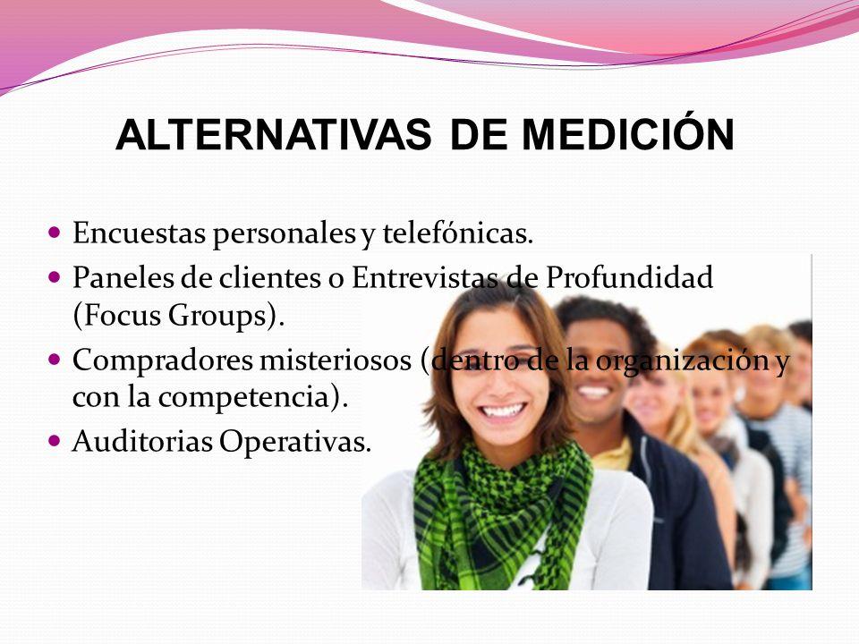 ALTERNATIVAS DE MEDICIÓN