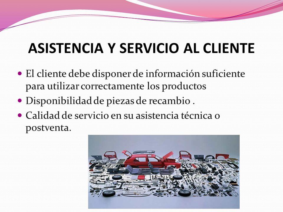 ASISTENCIA Y SERVICIO AL CLIENTE