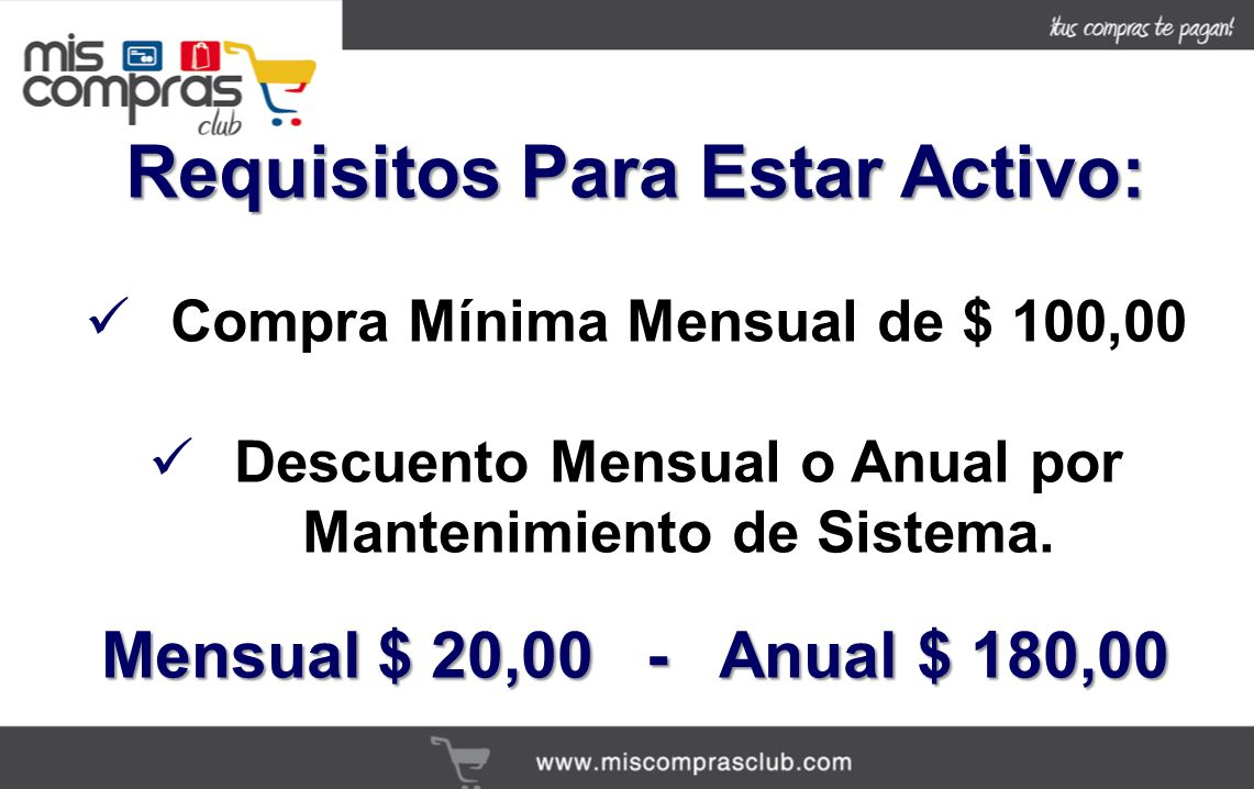 Requisitos Para Estar Activo: