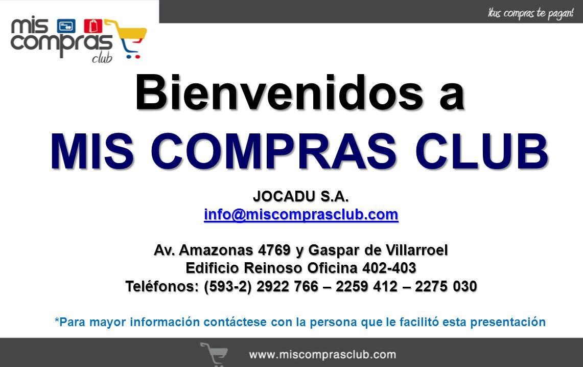 Bienvenidos a MIS COMPRAS CLUB