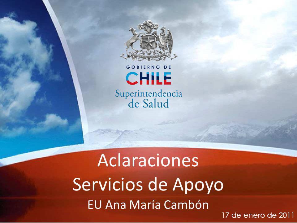 Aclaraciones Servicios de Apoyo EU Ana María Cambón