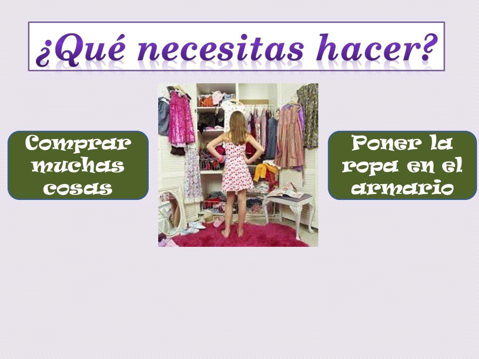 Poner la ropa en el armario