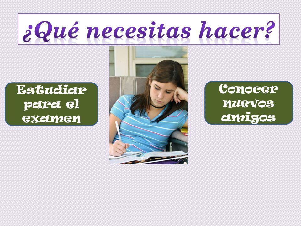 Estudiar para el examen