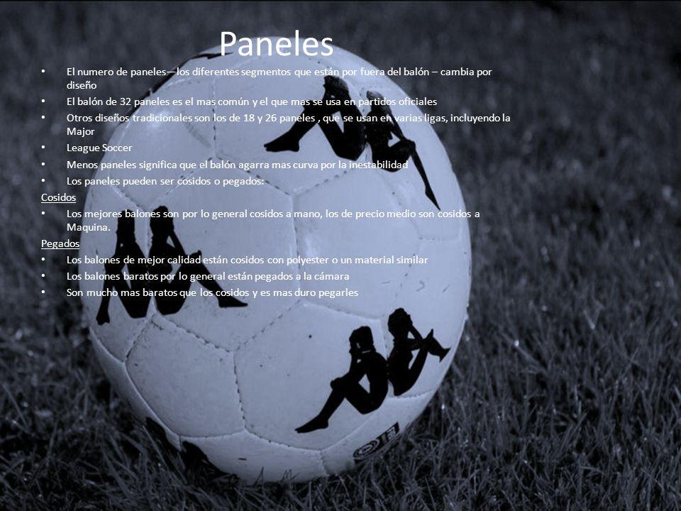 Paneles El numero de paneles—los diferentes segmentos que están por fuera del balón – cambia por diseño.
