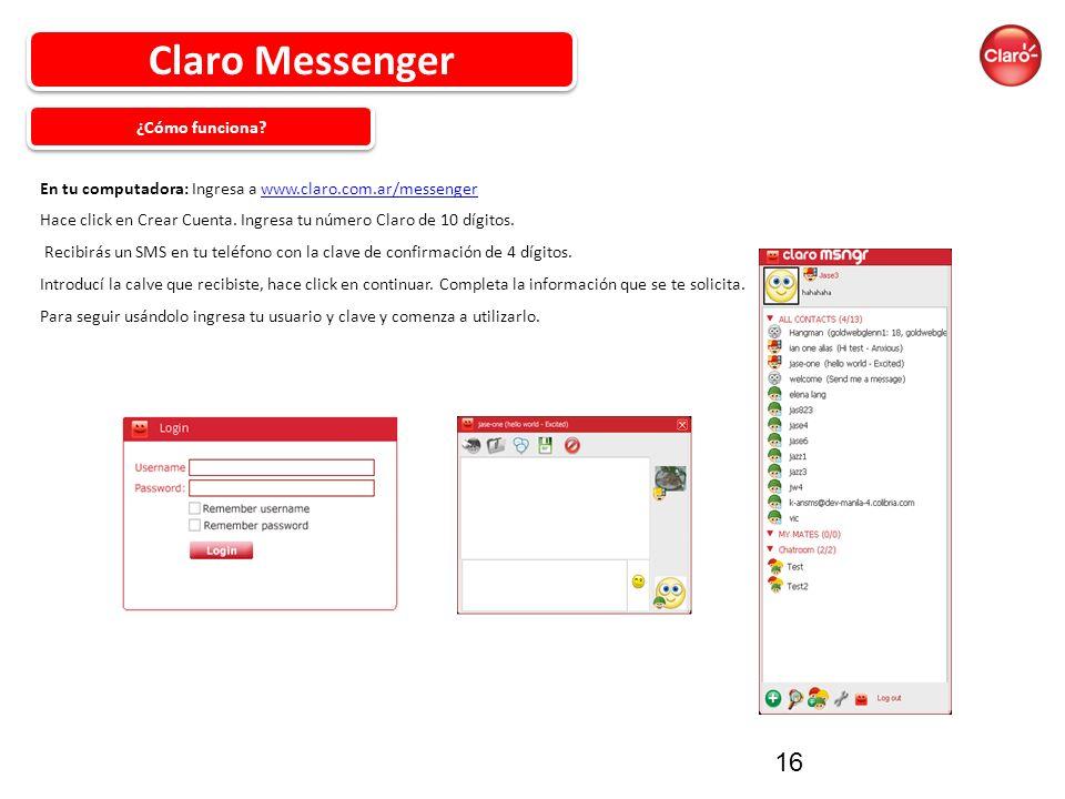 Claro Messenger ¿Cómo funciona