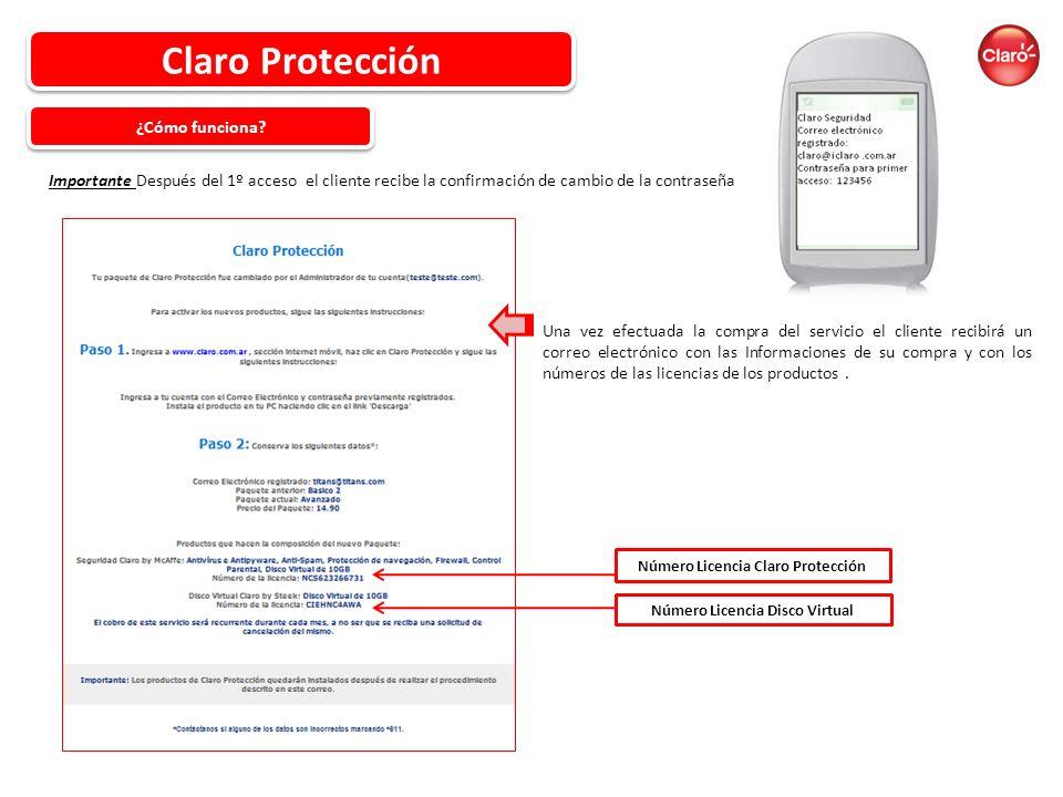 Número Licencia Claro Protección Número Licencia Disco Virtual