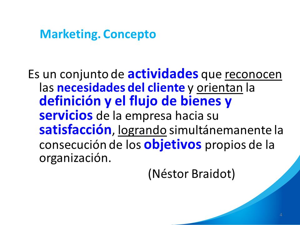 Marketing. Concepto