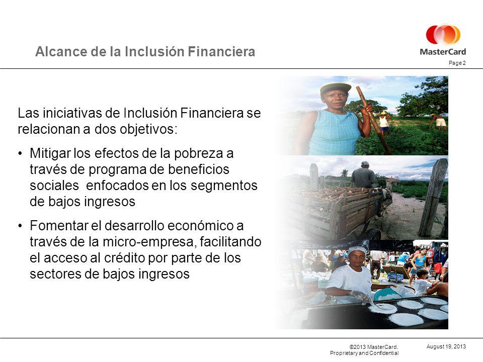Alcance de la Inclusión Financiera