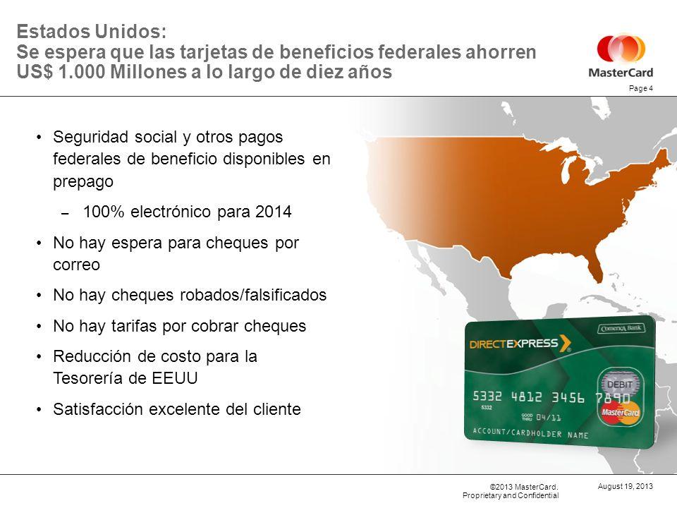29 de marzo de 2017 Estados Unidos: Se espera que las tarjetas de beneficios federales ahorren US$ 1.000 Millones a lo largo de diez años.