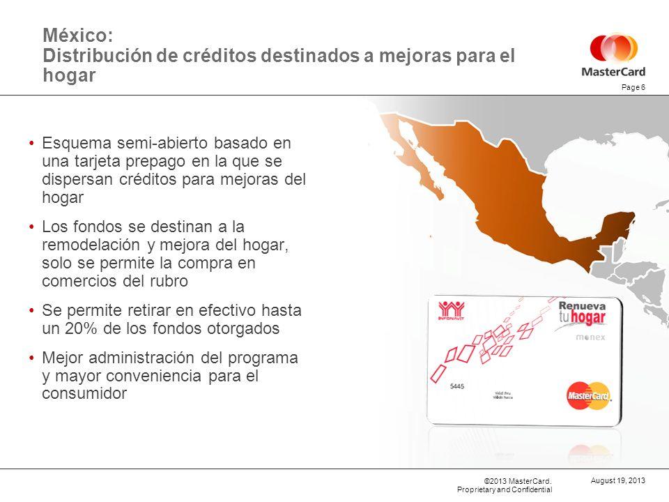 México: Distribución de créditos destinados a mejoras para el hogar