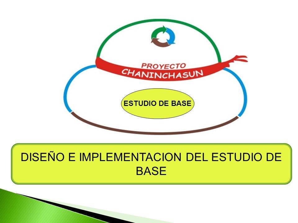 DISEÑO E IMPLEMENTACION DEL ESTUDIO DE BASE
