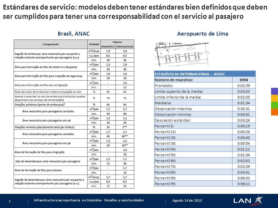 Estándares de servicio: modelos deben tener estándares bien definidos que deben ser cumplidos para tener una corresponsabilidad con el servicio al pasajero