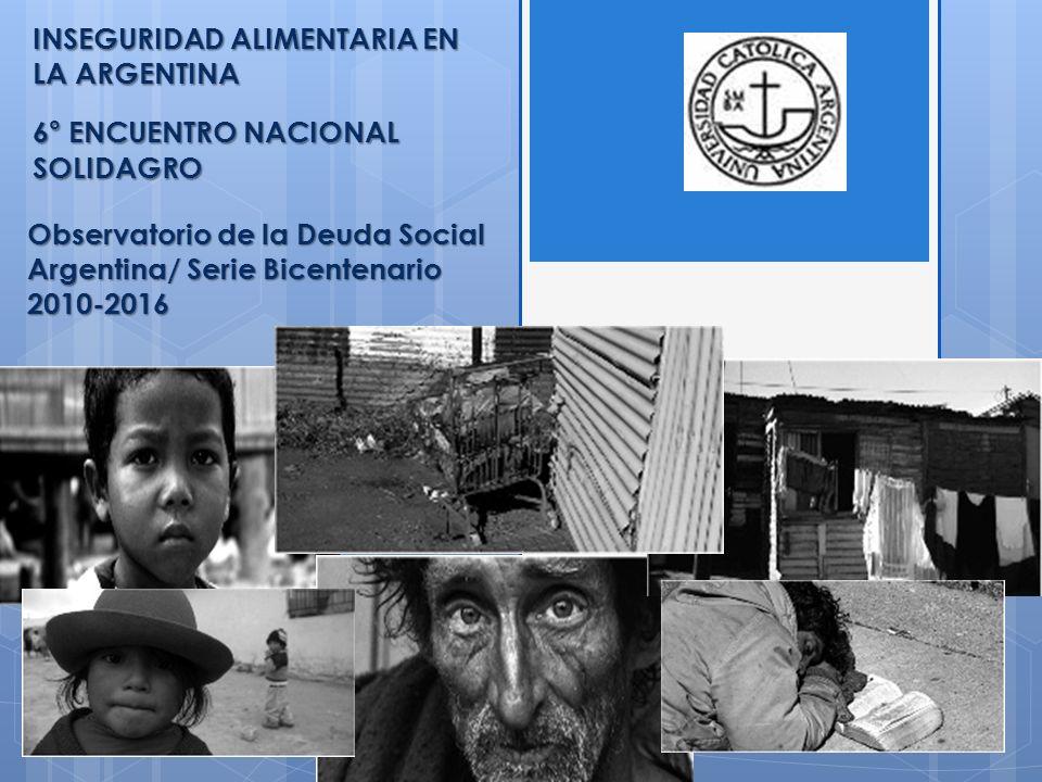 INSEGURIDAD ALIMENTARIA EN LA ARGENTINA