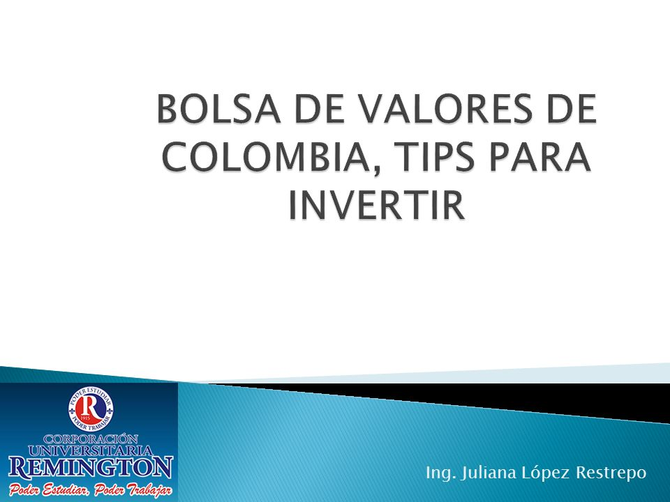 BOLSA DE VALORES DE COLOMBIA, TIPS PARA INVERTIR