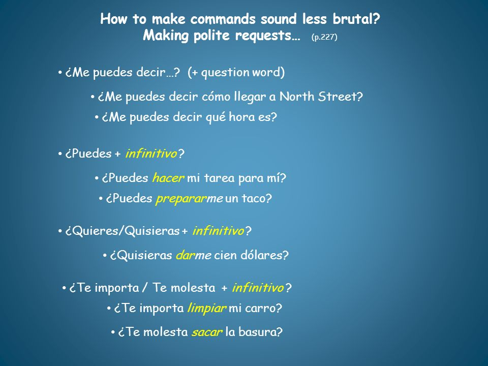 How to make commands sound less brutal