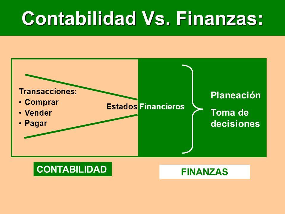 Contabilidad Vs. Finanzas: