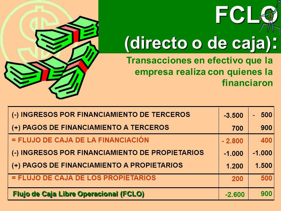 FCLO (directo o de caja):