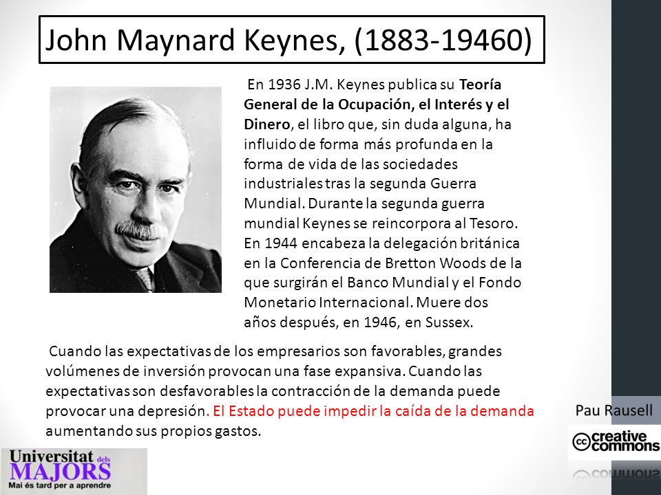 John Maynard Keynes, (1883-19460)
