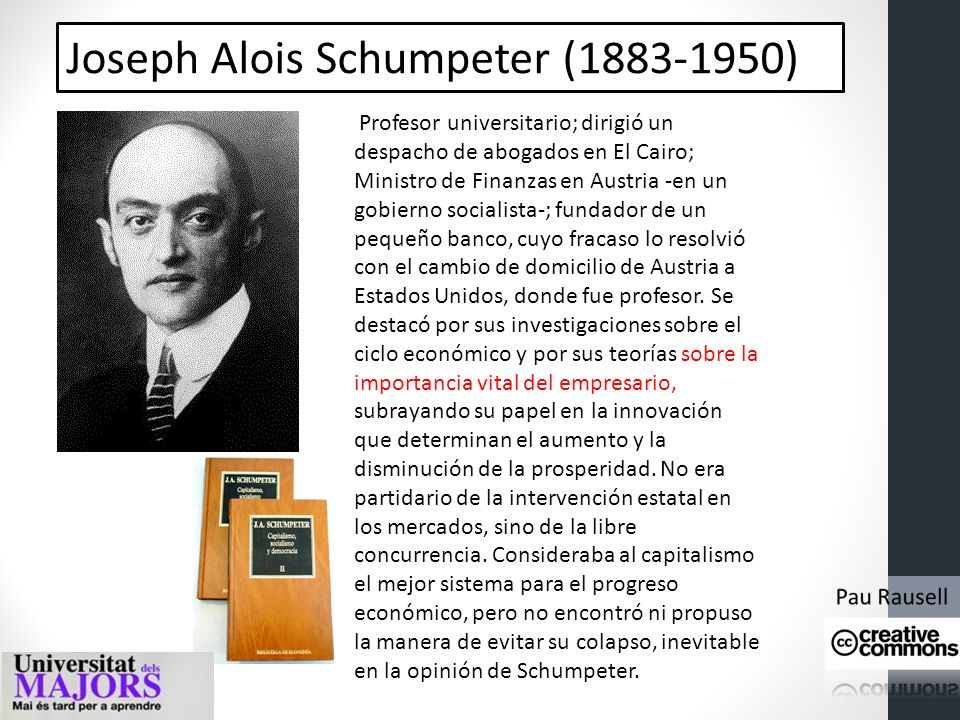 Joseph Alois Schumpeter (1883-1950)