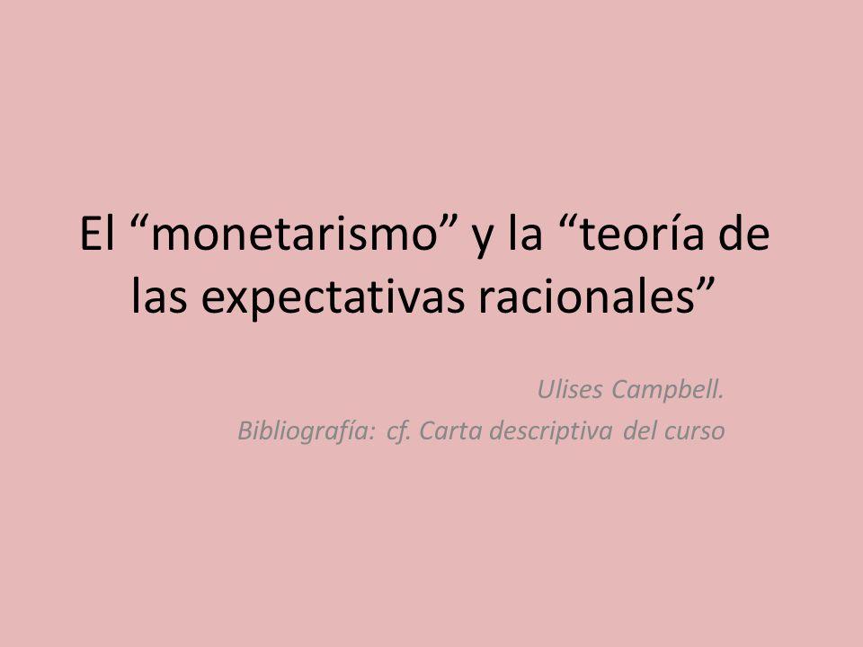 El monetarismo y la teoría de las expectativas racionales