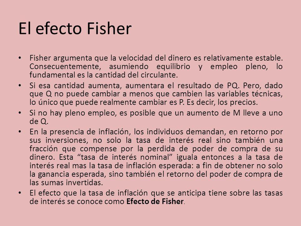 El efecto Fisher