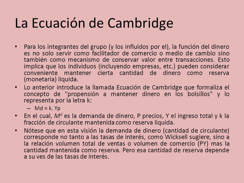 La Ecuación de Cambridge