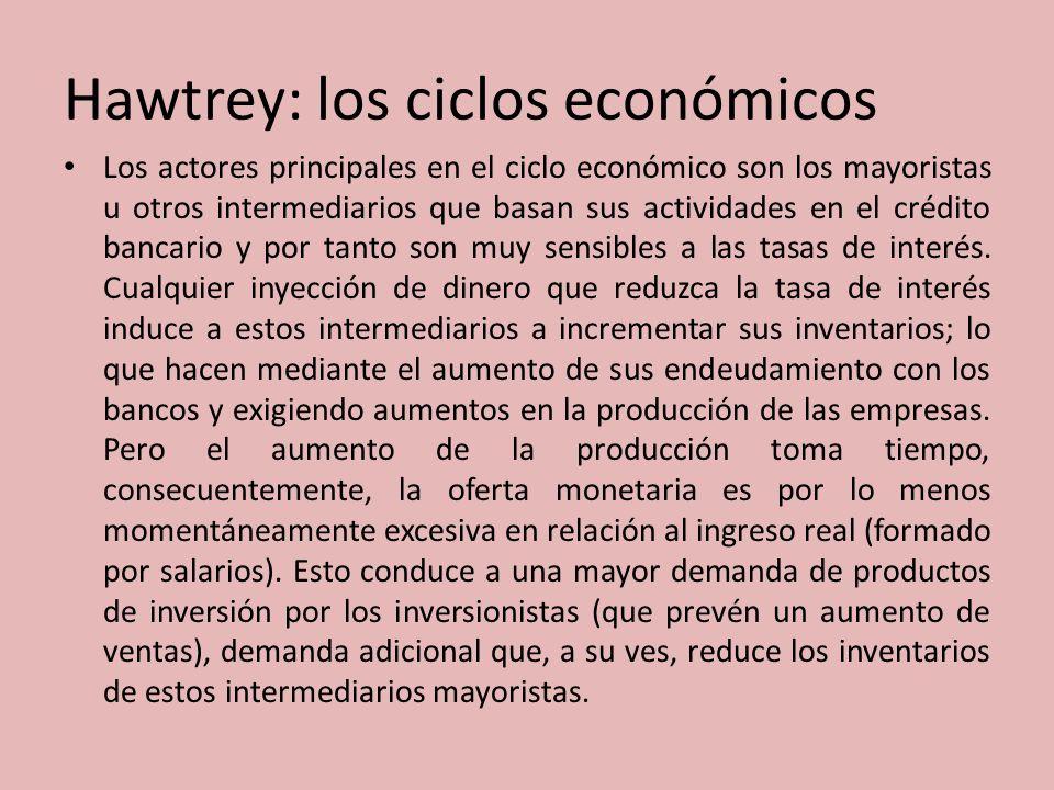 Hawtrey: los ciclos económicos