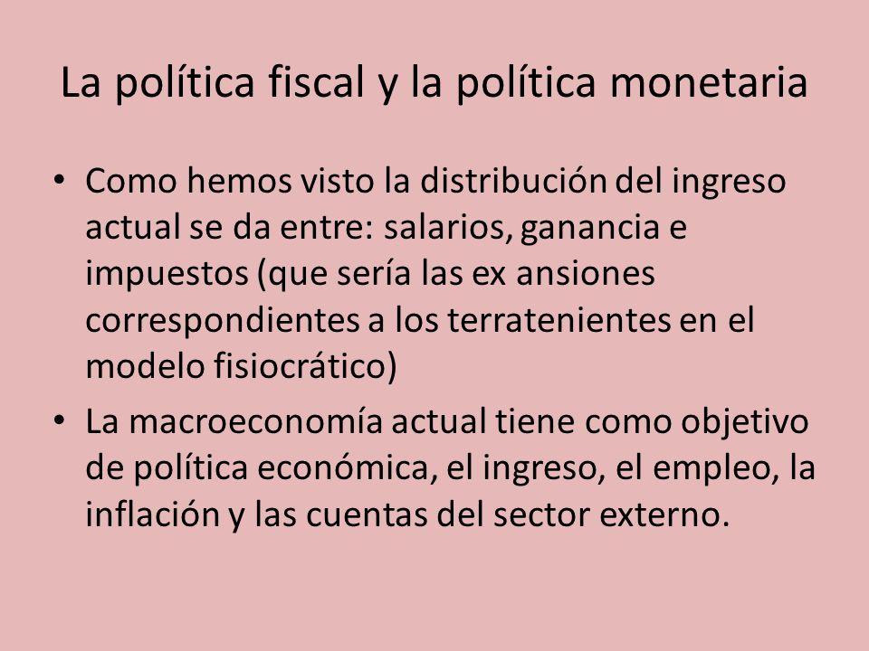 La política fiscal y la política monetaria