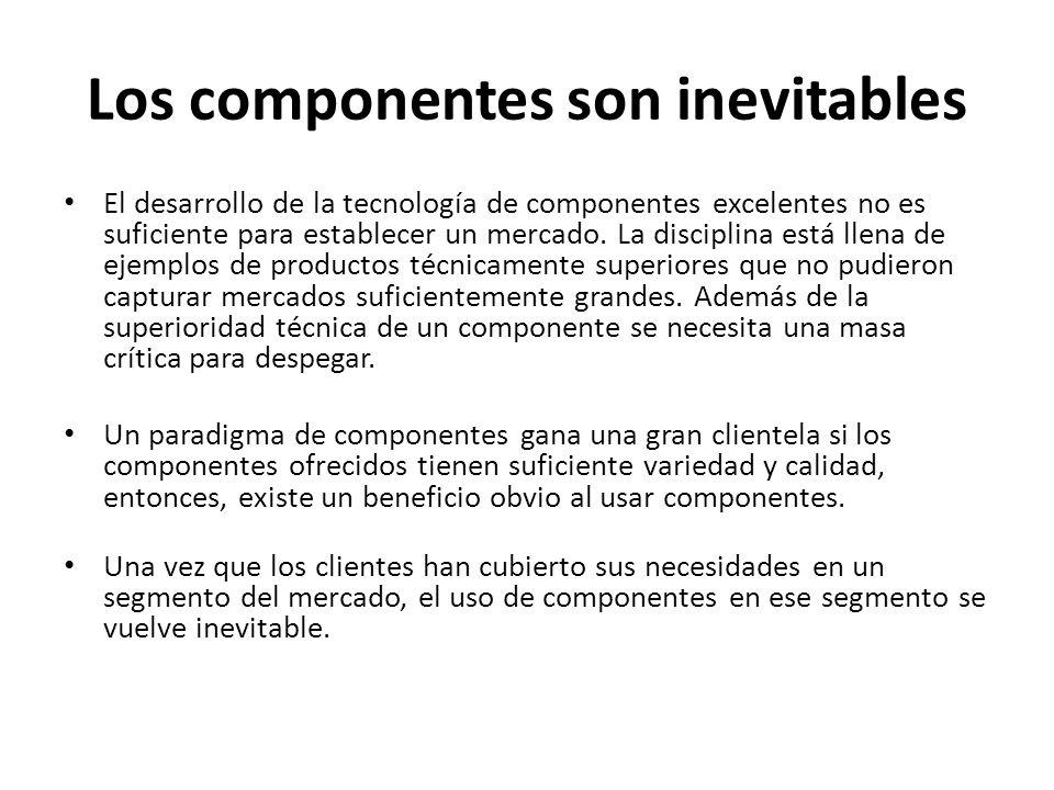Los componentes son inevitables