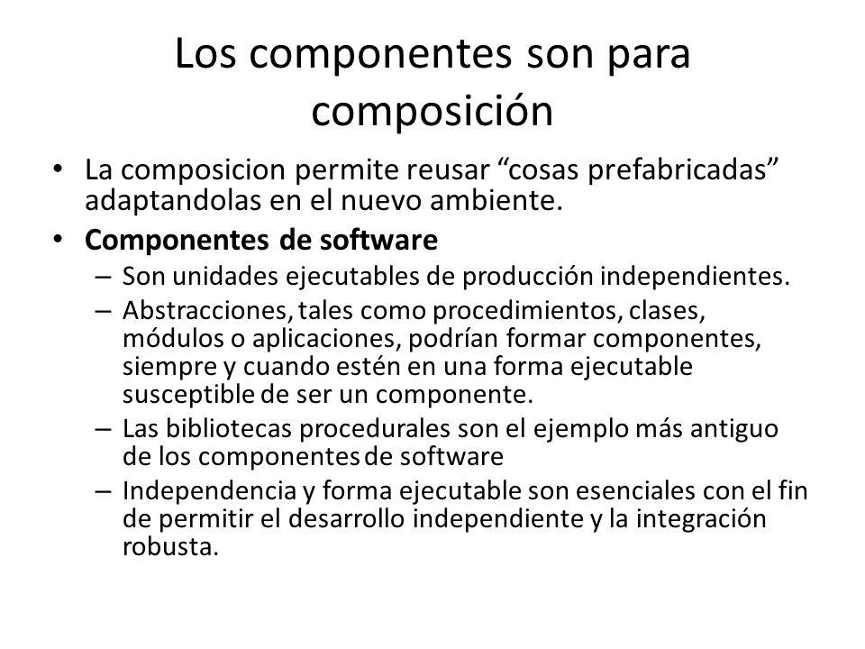 Los componentes son para composición