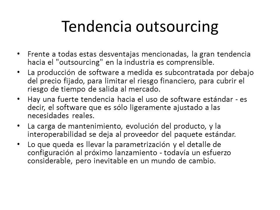 Tendencia outsourcing