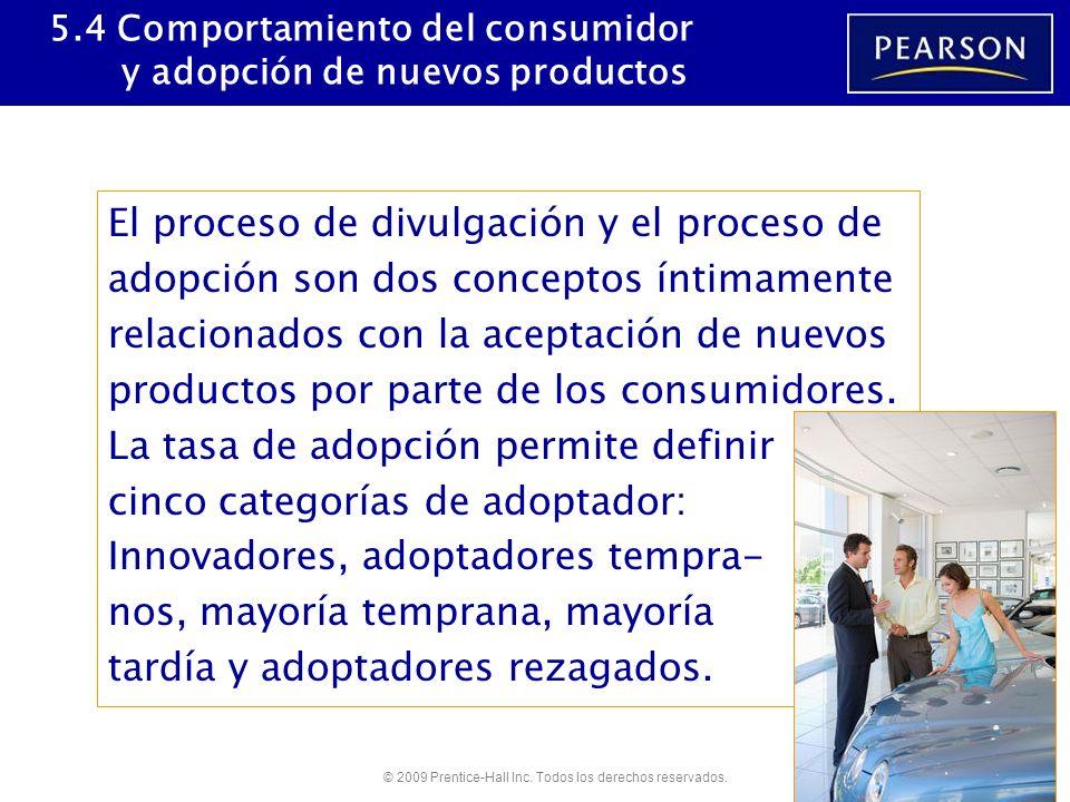 5.4 Comportamiento del consumidor y adopción de nuevos productos
