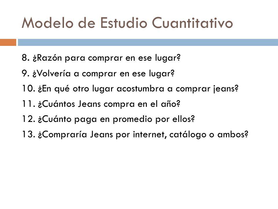 Modelo de Estudio Cuantitativo