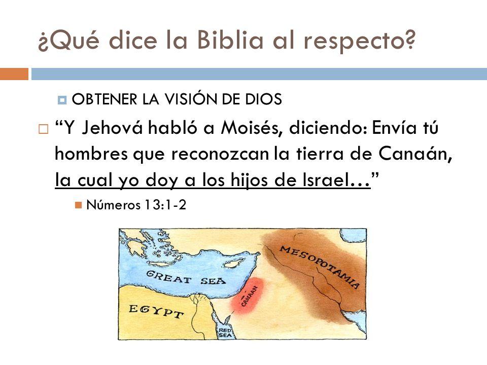 ¿Qué dice la Biblia al respecto