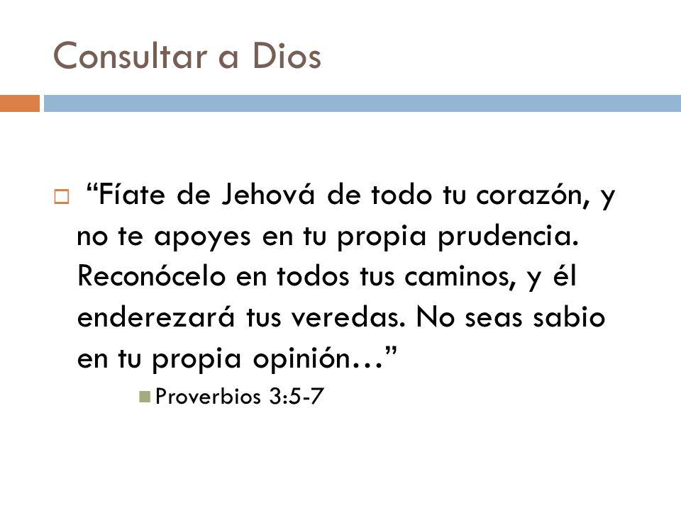 Consultar a Dios
