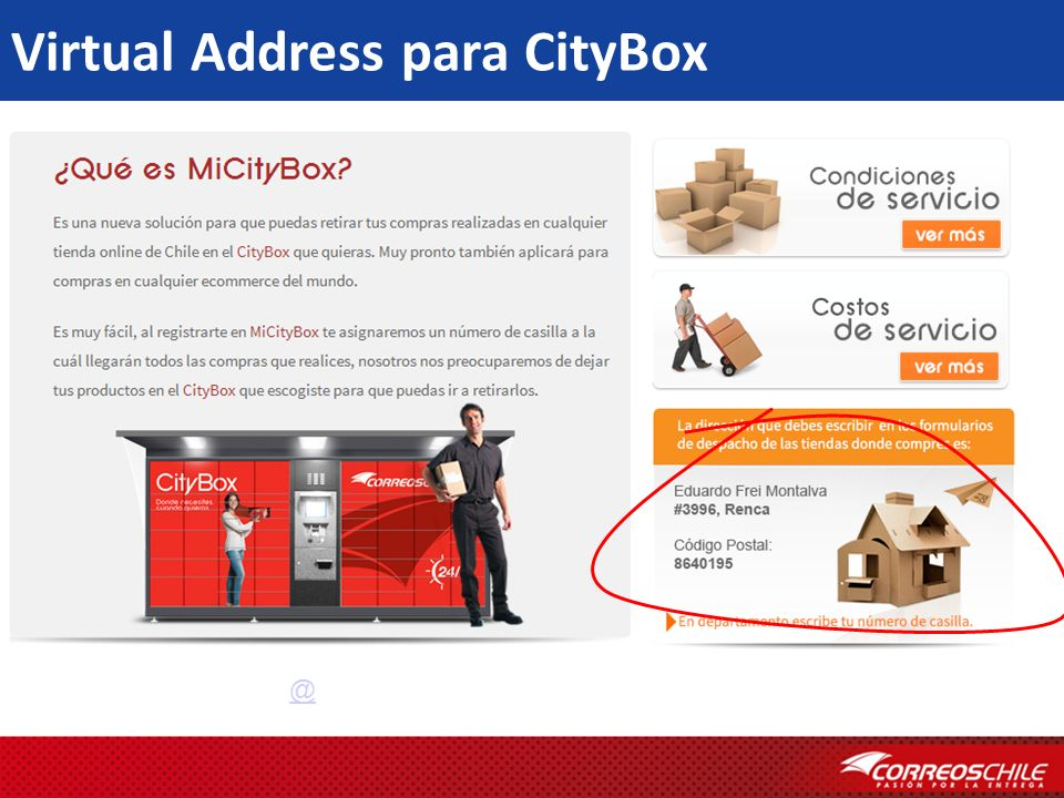 Virtual Address para CityBox