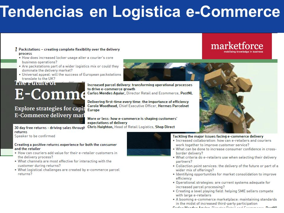 Tendencias en Logistica e-Commerce