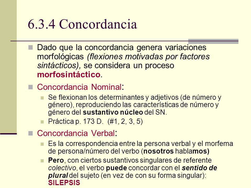 6.3.4 Concordancia