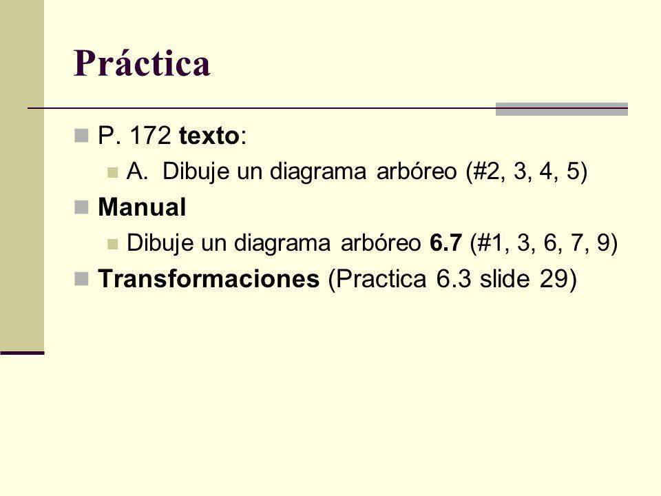 Práctica P. 172 texto: Manual Transformaciones (Practica 6.3 slide 29)
