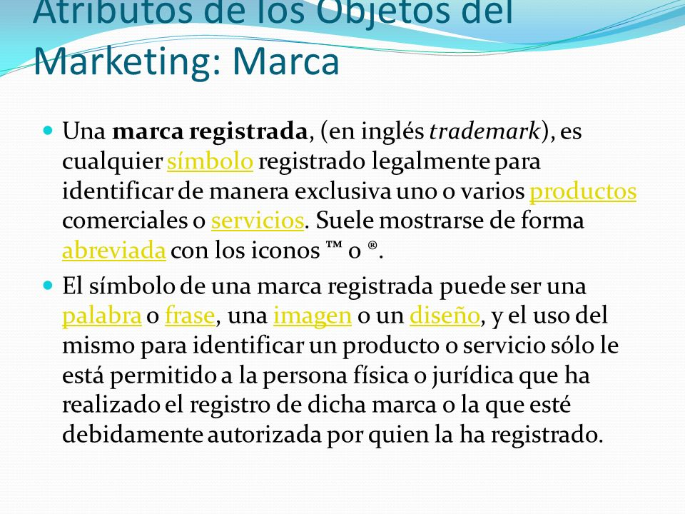 Atributos de los Objetos del Marketing: Marca