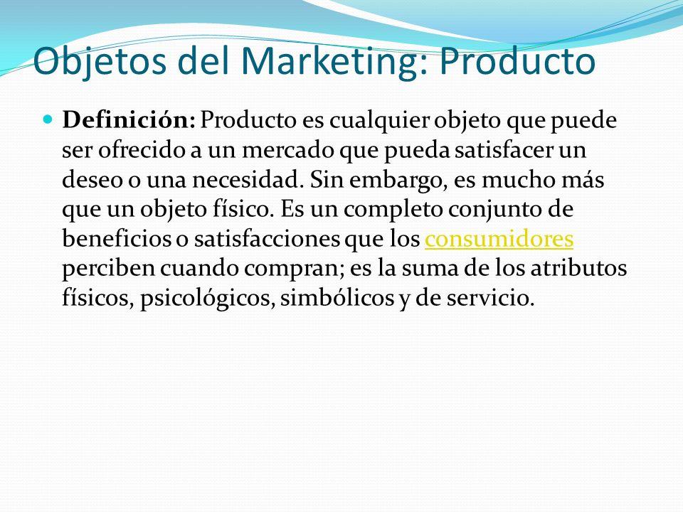 Objetos del Marketing: Producto
