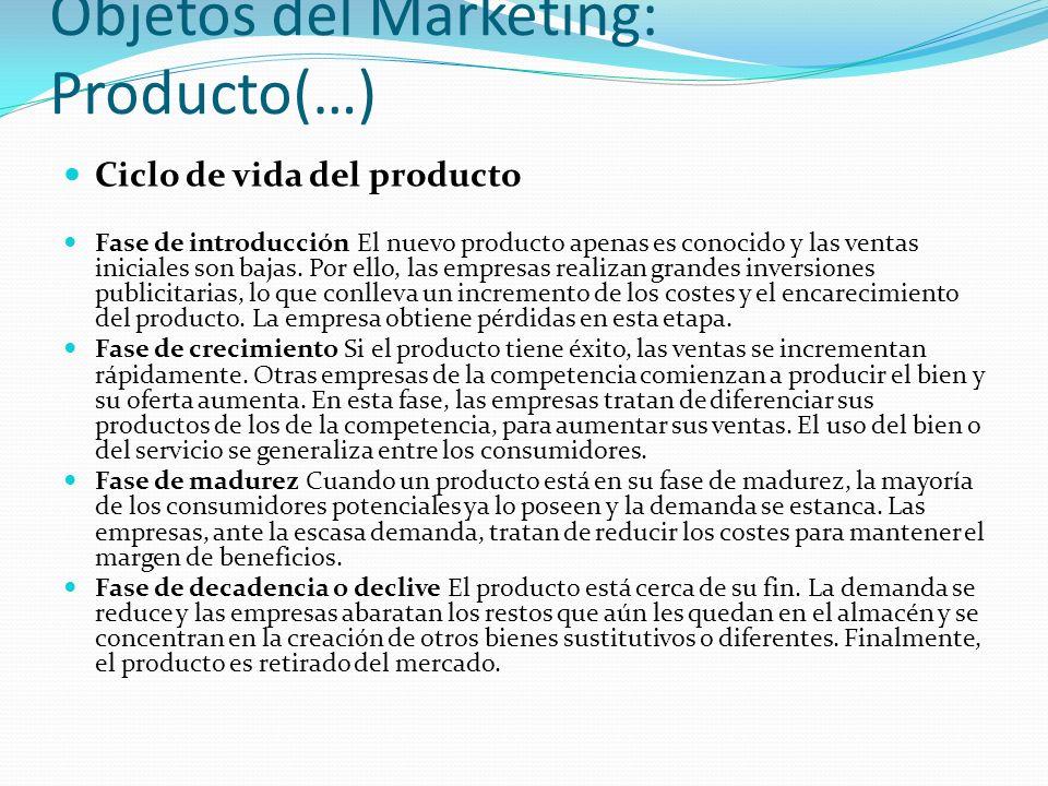 Objetos del Marketing: Producto(…)