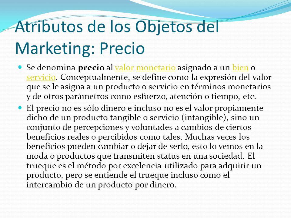 Atributos de los Objetos del Marketing: Precio
